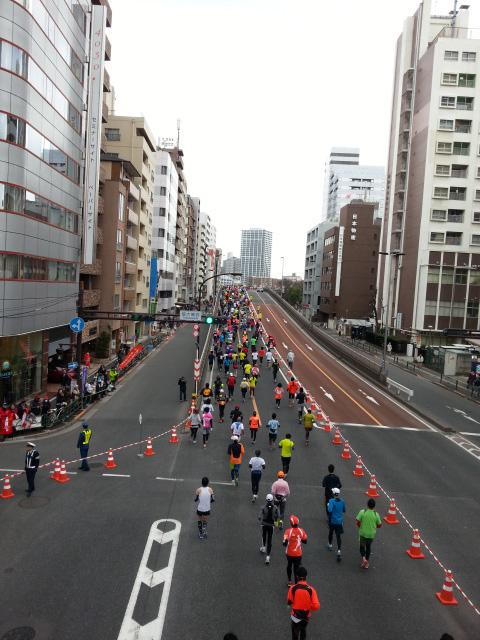 マラソン橋上